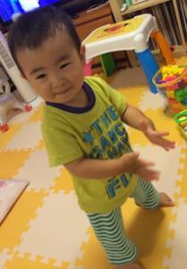 1歳6ヶ月でようやく立っち