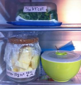 バターのカット保存