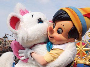 ディズニーシーのピノキオとマリーちゃん