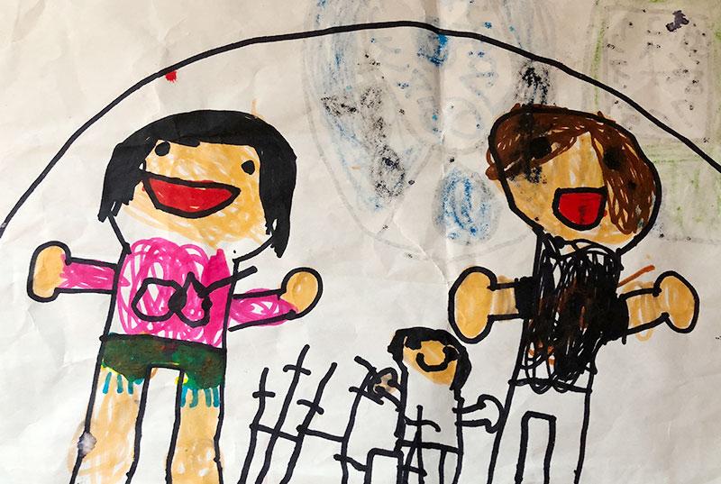 5歳男児が描いたヤバイTシャツ屋さん