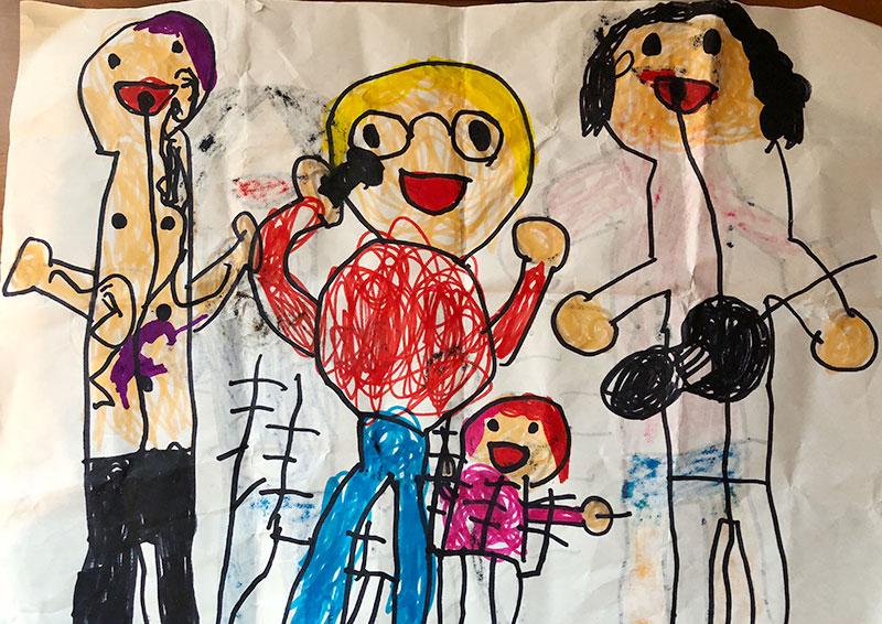 5歳男児が描いたマキシマム ザ ホルモン