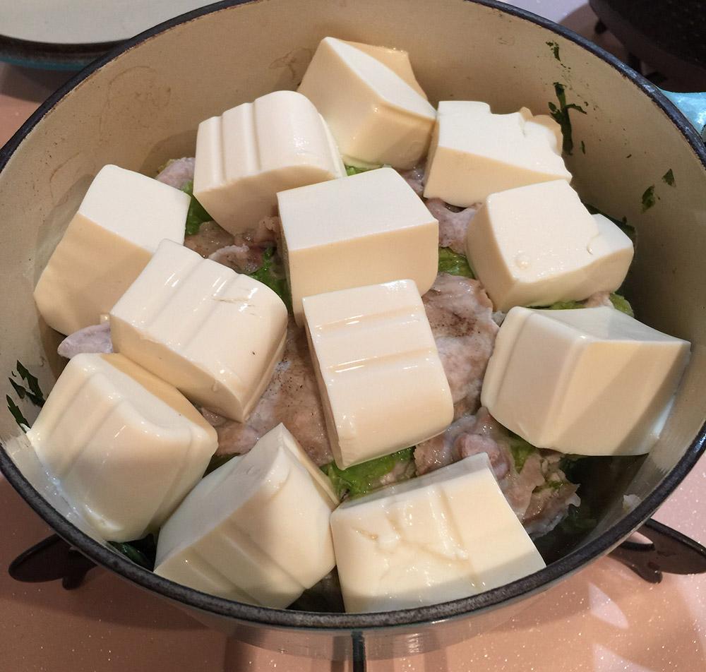 ルクルーゼで白菜と豚肉の重ね煮