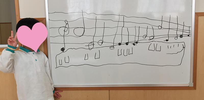 ピアノ教室に通って2ヶ月で書いた楽譜