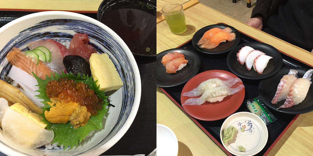 和歌山・白浜「とれとれ市場」の海鮮丼とお寿司