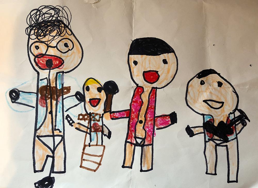 5歳児が描いたコミックバンド四星球