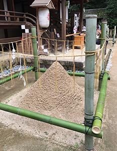 宇治上神社の清め砂