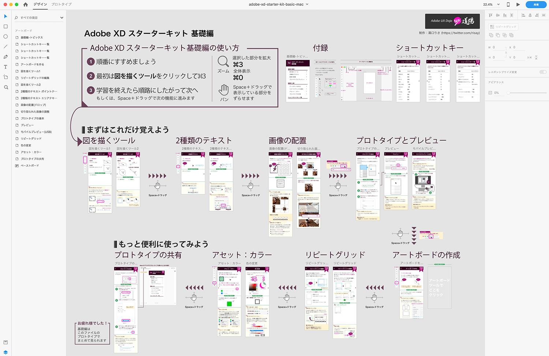 Adobe XD 初心者向けファイル