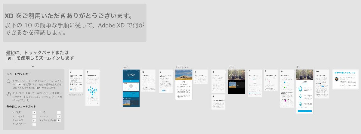 Adobe XD 初心者向けチュートリアル