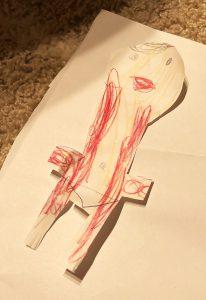 5歳児作:四星球の康雄さん人形